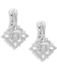 Judith Ripka - La Petite Sterling Silver & White Topaz Drop Earrings - Lyst