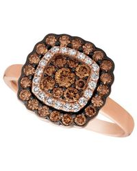 Le Vian - Chocolatier Diamond And 14k Strawberry Gold Cocktail Ring - Lyst