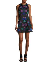 Cynthia Rowley - Embroidered Floral A-line Dress - Lyst