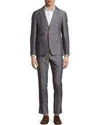 Façonnable - Woven Striped Suit - Lyst