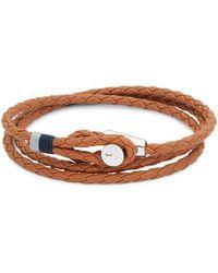 Miansai - Leather & Sterling Silver Bracelet - Lyst