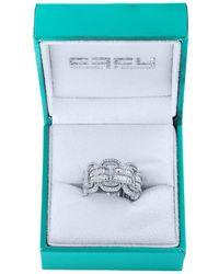 Effy - Super Buy 14k White Gold And Baguette Diamond Link Ring - Lyst