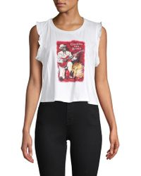 Mimi Chica - Freddie Chasing The Blues Cotton Muscle Tank Top - Lyst