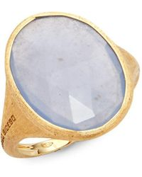 Marco Bicego - Siviglia Chalcedony & 18k Yellow Gold Ring - Lyst