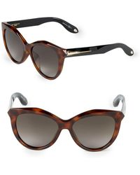 Givenchy - 55mm Butterfly Sunglasses - Lyst