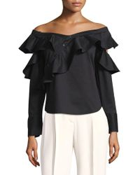 Laundry by Shelli Segal - Ruffled Off-the-shoulder Top - Lyst