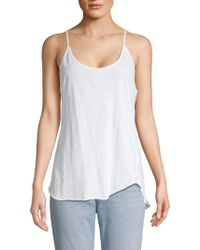 003882ad540094 Lyst - Chaser Vintage Muscle Tank Top in White