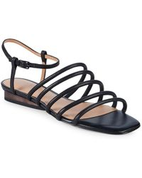 Halston - Leandra Leather Sandals - Lyst