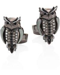 Tateossian - Mechanimal Animal Owl Design Cufflinks - Lyst
