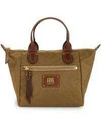 Frye - Small Ivy Leather-trim Satchel - Lyst
