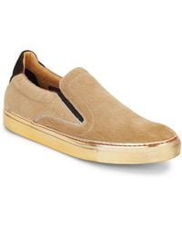 Robert Graham - Rolo Calf Hair & Leather Slip-on Trainers - Lyst