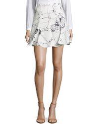 Keepsake - Heat Wave Floral Ruffled Skirt - Lyst
