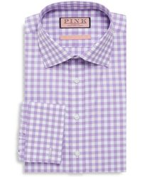 Thomas Pink - Chequered Cotton Button-down Shirt - Lyst