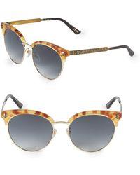 ba70b6f98d8db Lyst - Gucci Plastic Square Sunglasses Brown red