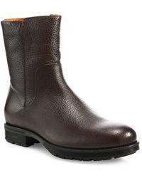 Aquatalia - Logan Embossed Leather Mid-calf Boots - Lyst