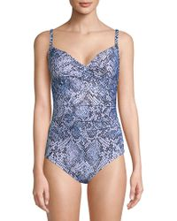 CALVIN KLEIN 205W39NYC - One-piece Printed Swimsuit - Lyst