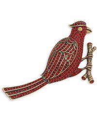 Heidi Daus - Bird Crystal Pin - Lyst