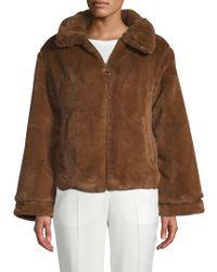 C&C California - Faux Fur Zip-up Jacket - Lyst