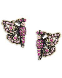 Heidi Daus - Butterfly Crystal Earrings - Lyst