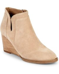 7f55da56f211 Blondo - Norwalk Suede Leather Wedge Bootie - Lyst