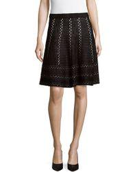 Saks Fifth Avenue Black - Flare Mini Skirt - Lyst