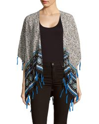Bindya - Printed Open-front Cape - Lyst