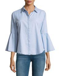 Jordan Alexander - Flared-sleeve Button-down Shirt - Lyst
