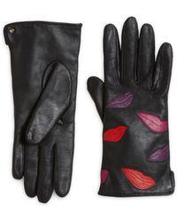 Diane von Furstenberg - Lips Leather Gloves - Lyst