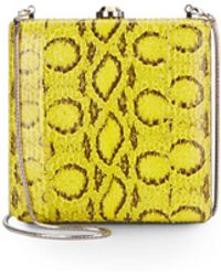 Reed Krakoff - Viper Leather-trimmed Clutch - Lyst
