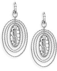 John Hardy - Sterling Silver Oval Drop Earrings - Lyst