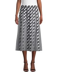 4a69617198 Lafayette 148 New York - Adalia Check Pleated Skirt - Lyst