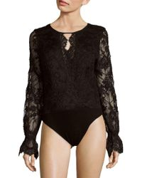 Stone Cold Fox - Long-sleeve Lace Bodysuit - Lyst