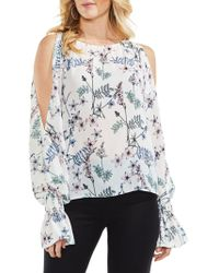 e6c0b11c3192b Vince Camuto - Flared-cuff Cold-shoulder Blouse - Lyst