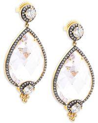 Freida Rothman - Classic Cz & 14k Gold-plated Sterling Silver Teardrop Earrings - Lyst