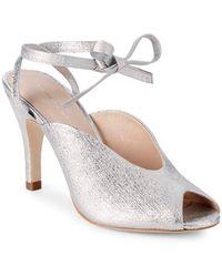 Loeffler Randall - Mila Ankle Wrap Leather Sandals - Lyst