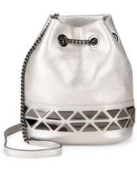 Vince Camuto - Triangle Chain Bucket Bag - Lyst
