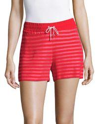 Sandro - Striped Drawstring Shorts - Lyst