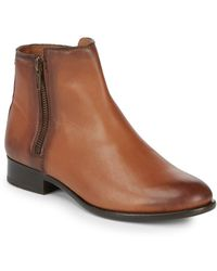 Frye - Carly Double Zip Leather Boots - Lyst