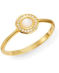 Ippolita - Lollipop Mother-of-pearl, Diamond & 18k Yellow Gold Mini Ring - Lyst
