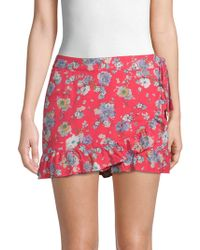 Free People - Flirting Floral Mini Skort - Lyst