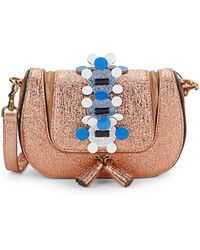 Anya Hindmarch - Vere Mini Chain Metallic Leather Crossbody Bag - Lyst