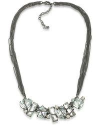 ABS By Allen Schwartz - Rockstars Stone Wrap Frontal Necklace - Lyst