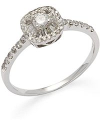Effy - Diamond & 14k White Gold Ring - Lyst