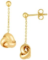 Saks Fifth Avenue - 14k Yellow Gold Love Knotearrings - Lyst
