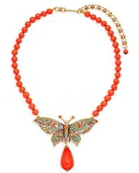 Heidi Daus - Multicolored Crystal Butterfly Pendant Necklace - Lyst