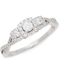 Saks Fifth Avenue - Forever Beautiful 14k White Gold & Diamond Ring - Lyst