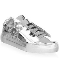 Nicholas Kirkwood - Pearlogy Metallic Leather Sneakers - Lyst