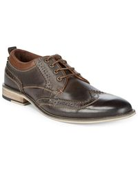 Steve Madden - Jorah Leather Derby Shoes - Lyst