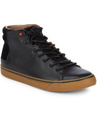 UGG - Hoyt Leather Trainers - Lyst