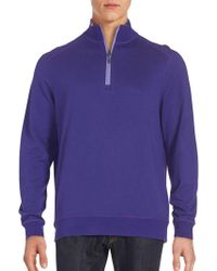 Bugatchi - Quarter Zip-front Pullover - Lyst